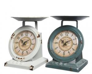 Horloge balance déco en fer