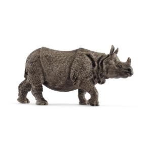 Figurine Rhinocéros Indien - Schleich - 13.9 x 4.4 x 6.7 cm