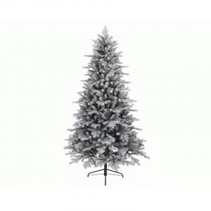 Sapin givré vermont - 1604 branches - Vert/blanc - Ø 127 cm - 210 cm