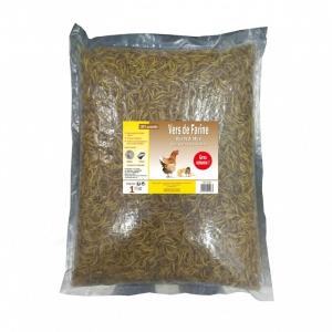 Vers de farine déshydratés pour poules et poussins - La compagnie des Pet Food - 1 kg