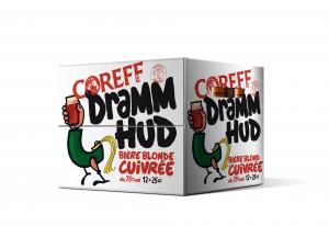 Pack de Bière Blonde Cuivrée Dramm Hud - COREFF - 12 x 25 cl