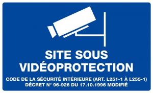 Plaque de signalisation Site sous vidéoprotection - 33 x 20 cm