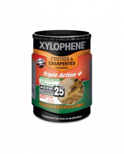 Traitement des poutres et charpentes - Xylophène - PPG - Bidon de 5 L
