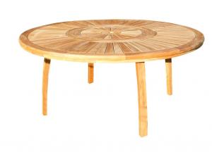 Table ronde d'extérieur teck brut - Médicis - Ø 170 mm