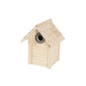Nid Castor pour oiseaux avec toit en bouleau - Zolux - 19 x 18 x 24 cm