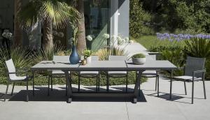 Table Amaka - Les Jardins - 200/300 x 105 cm - Gris
