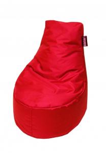 Pouf de sol Lounge Easy for Life - Jardin privé - 88 x 65 x 83 cm - Rouge Carmin