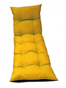 Coussin Bain de soleil Flocons Colors - Jardin privé - 180 x 56 x 10 cm - Safran