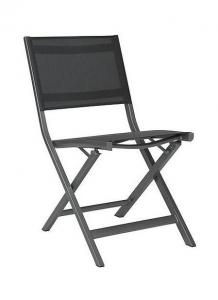 Chaise pliante de balcon Nils - Stern - Alu Graphite - Textile Argent Gris