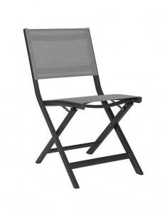 Chaise pliante de balcon Nils - Stern - Alu Anthracite - Textile Argent