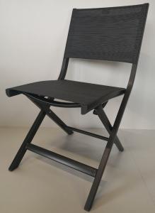 Chaise pliante de balcon Nils - Stern - Alu Anthracite - Textile Carbone