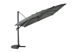Parasol déporté - Structure Aluminium - 3 x 3 m - Anth / Anthracite