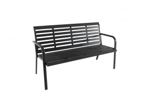 Banc Marta - 62 x 150 x 86 cm - 3 places - Anthracite mat