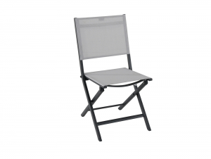 Chaise pliante Censo - Alu polyester - Gris mat / Anthracite