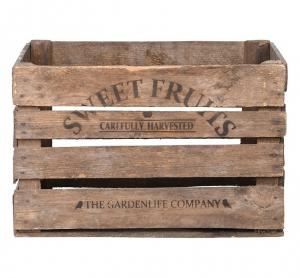 Cageot de pomme en bois - Esschert Design - 51,1 x 42,3 x 30,1 cm