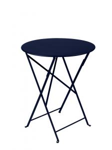 Table pliante Bistro - Fermob - Ø 60 cm - Bleu Abysse