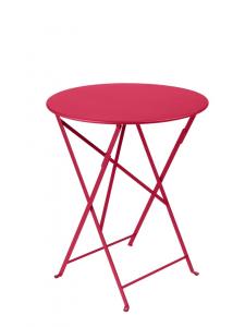Table pliante Bistro - Fermob - Ø 60 cm - Rose Praline