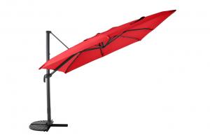 Parasol déporté - Structure Aluminium - 3 x 3 m - Anth / Rouge