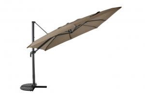 Parasol déporté - Structure Aluminium - 3 x 3 m - Anth / Taupe