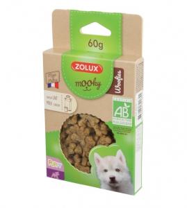 Friandises Mooky Bio Woofies au goût de Lait - Zolux - Pour chiot - 60 g