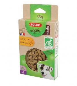 Friandises Mooky Bio Woofies au goût de Poulet - Zolux - Pour chien adulte - 80 g