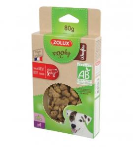 Friandises Mooky Bio Woofies au goût de Bœuf - Zolux - Pour chien adulte - 80 g