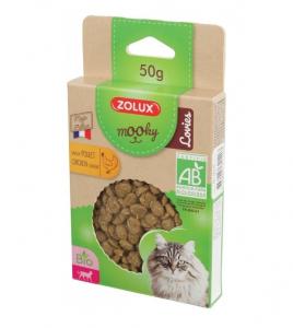Friandises Mooky Bio Lovies au goût de Poulet - Zolux - Pour chat adulte - 50 g