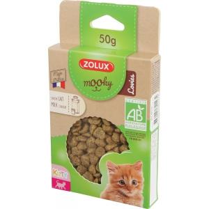 Friandises Mooky Bio Lovies au goût de Lait - Zolux - Pour chaton - 50 g