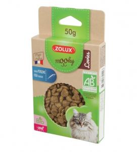 Friandises Mooky Bio Lovies au goût de Poisson - Zolux - Pour chat adulte - 50 g
