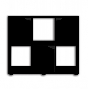 Meuble Karapas 100 - Zolux - 100 x 40 x 72 cm - Noir