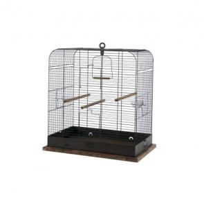 Cage Retro Madeleine pour oiseaux - Zolux - 57 x 37,5 x 62 cm - Noire