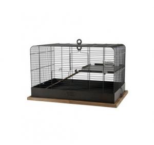 Cage Retro Fernand pour rongeurs - Zolux - 59 x 39,5 x 39,5 cm - Noire