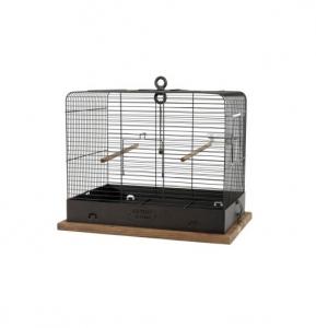 Cage Retro Célestine pour oiseaux - Zolux - 48 x 31 x 41 cm - Noire