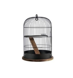 Cage Retro Albert pour rongeurs - Zolux - Ø 38 x 55 cm - Noire
