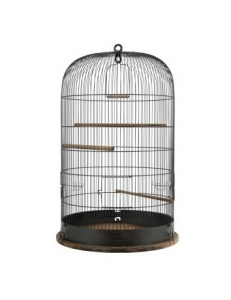 Cage Retro Marthe pour oiseaux - Zolux - Ø 48 x 74 cm - Noire