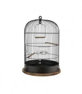 Cage Retro Lisette pour oiseaux - Zolux - Ø 38 x 55 cm - Noire