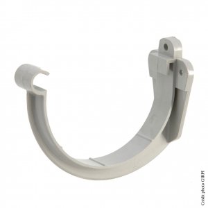 Support de gouttière développé de 33 - GIRPI - PVC - Gris
