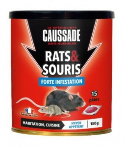 Rat souris Pat'Appat forte infestation - Caussade - 150 gr - x15