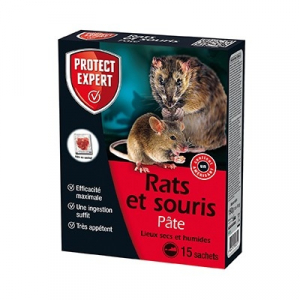 Rats souris - Protect Expert - Pâte - 150 gr - x15