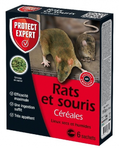 Rats et souris Céréales - Protect Expert - 150 gr - x6
