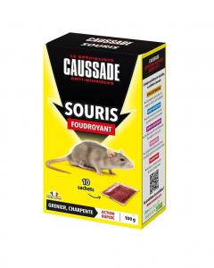 Souricide foudroyant céréales pour souris - Caussade - 10 sachets de 10 g