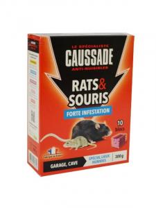 Rats et souris forte infestation - Caussade - blocs - 300 gr - x10