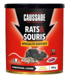 Rat souris Pat'Appat efficacité radicale - Caussade - 100 gr