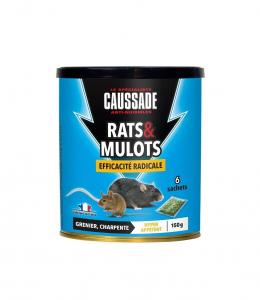 Raticide rats & mulots en céréales - Caussade - 6 sachets de 25 g