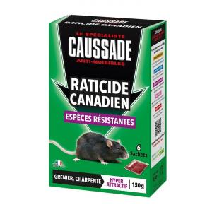 Raticide canadien en céréales - Caussade - 6 sachets de 25 g
