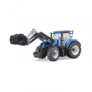 Tracteur New Holland T7.315 avec fourche - Bruder - 1/16