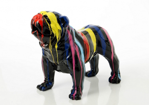 Chien Bulldog USA trash - Cades Amadeus - noir