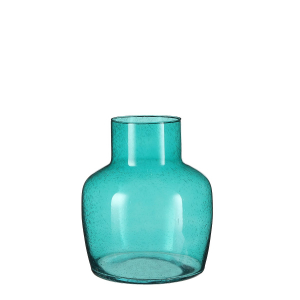 Bouteille en verre bleu Claire - 26cm