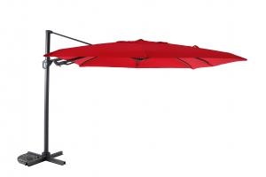 Parasol déporté Flip Flap - Heat transfert - 3 x 3 m - Rouge