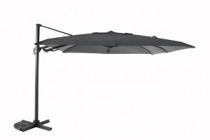 Parasol déporté Flip Flap - Heat transfert - 3 x 3 m - Anthracite